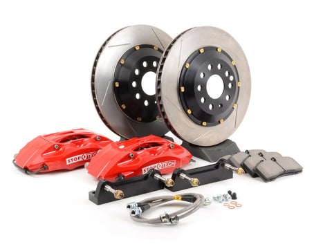 Stoptech ST-40 Big Brake Kit Front 355mm Red Slotted Rotors for 2008-2014 WRX