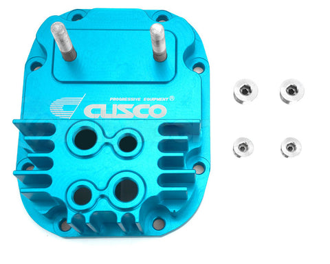 Cusco Increased Capacity Rear Differential Cover Blue For Subaru R180