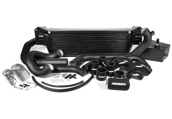 Perrin Front Mount Intercooler Kit for 2015+ WRX (Black Core w/ Black Piping)