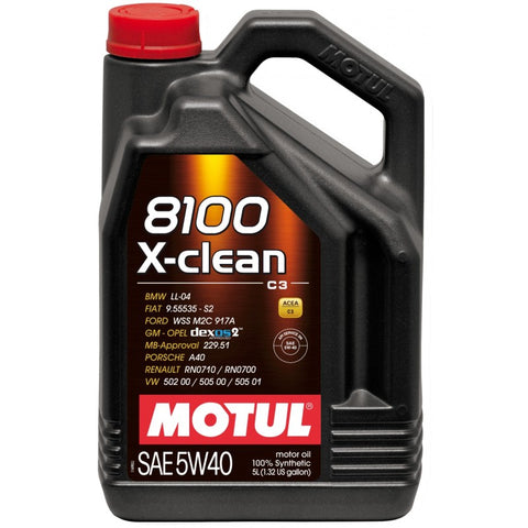 Motul 8100 X-Clean Engine Oil 5W40 5L