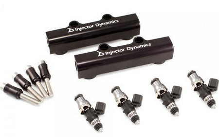 Injector Dynamics Fuel Injectors 1050cc with Top Feed Conversion Fuel Rails For 2004-2006 STI / 2005-2007 LGT / 2004-2005 FXT