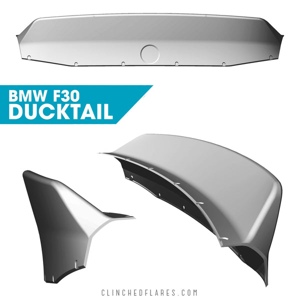Clinched Flares Ducktail Spoiler for BMW 3-Series F30