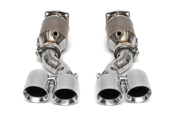 Fabspeed Porsche 997 Turbo Street Muffler Bypass Exhaust System (Polished Tips)