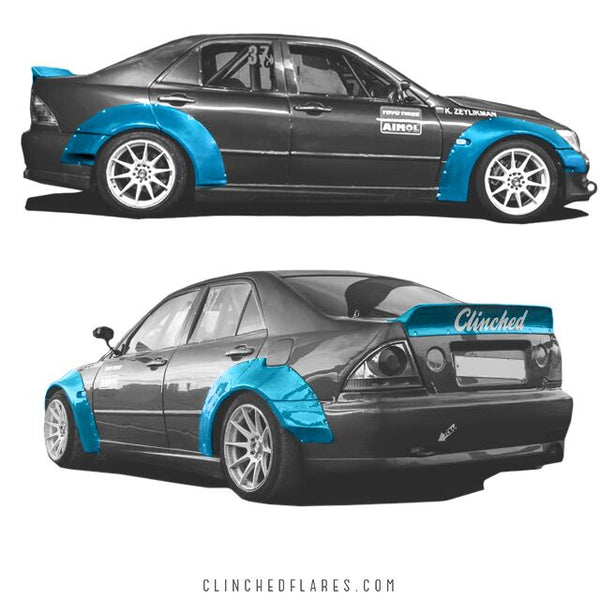 Clinched Flares Widebody Kit for Lexus IS300 1998-2005