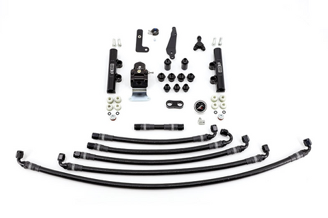 IAG PTFE FUEL SYSTEM KIT W/ LINES, FPR & FUEL RAILS FOR 08-19 SUBARU STI