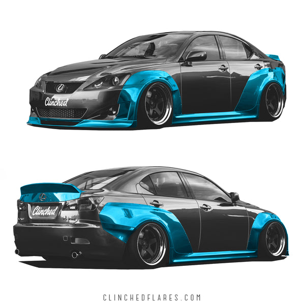 Clinched Flares Widebody Kit for Lexus IS250 / IS350 2005-2013