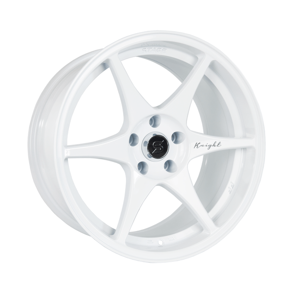 Stage Wheels Knight 17x9 +10mm 5x114.3 CB 73.1 White