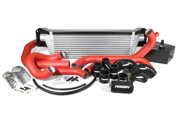 Perrin Front Mount Intercooler Kit for 2015+ WRX (Silver Core w/ Red Piping)