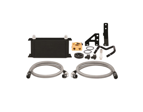 Mishimoto Thermostatic Oil Cooler Kit Black for 2015+ WRX