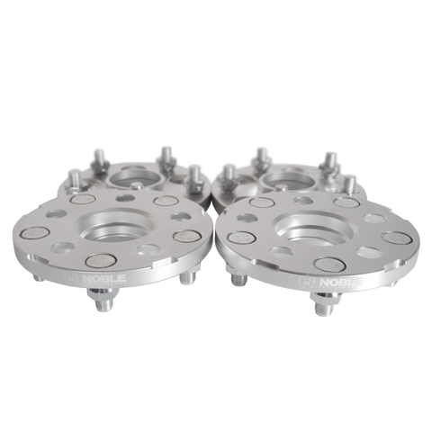 Noble Performance Conversion Spacers 5x100 to 5x114.3 15mm CB:56.1 Silver For WRX / STI / LEGACY GT / BRZ / FR-S