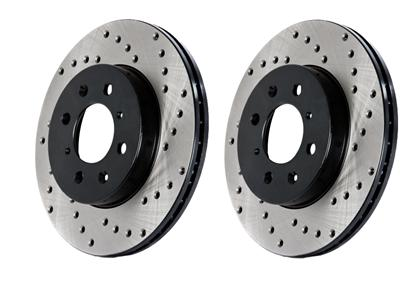 Stoptech Rear Drilled Rotors (Pair) 2006-2007 WRX / 2005-2009 Legacy GT