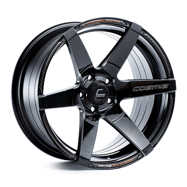 Cosmis Racing S1 Black with Milled Spokes Wheel 18X9.5 5X114.3 +15MM Offset