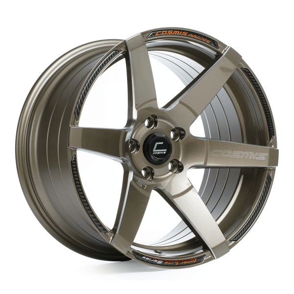 Cosmis Racing S1 Bronze with Milled Spokes Wheel 18X9.5 5X114.3 +15MM Offset