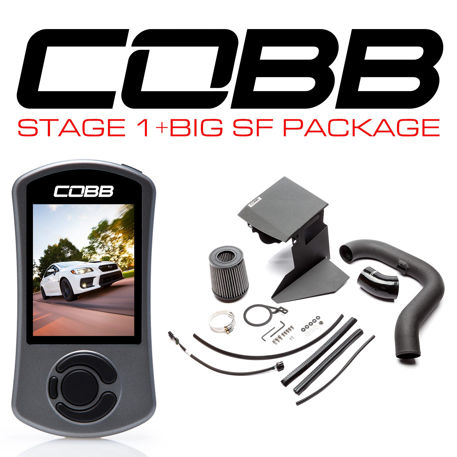 Cobb Tuning Stage 1 + Big SF Package For 2015+ WRX (CVT Transmission)