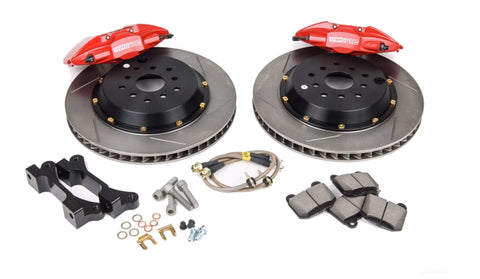 Stoptech ST-22 Big Brake Kit Rear 328mm Red Slotted Rotors for 2008-2014 WRX