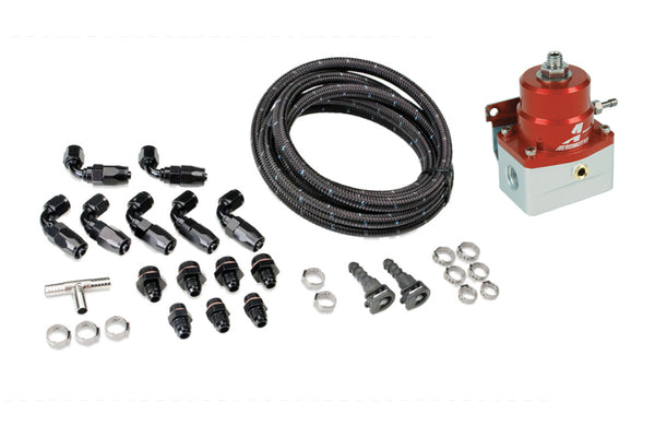 IAG Performance Braided Fuel Line & Fitting Kit For IAG Top Feed Fuel Rails & -6 Aeromotive FPR