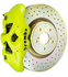 Brembo GT Systems Monobloc 4 Piston 326mm Cross Drilled (Fluorescent Yellow) For 2013+ BRZ/FRS