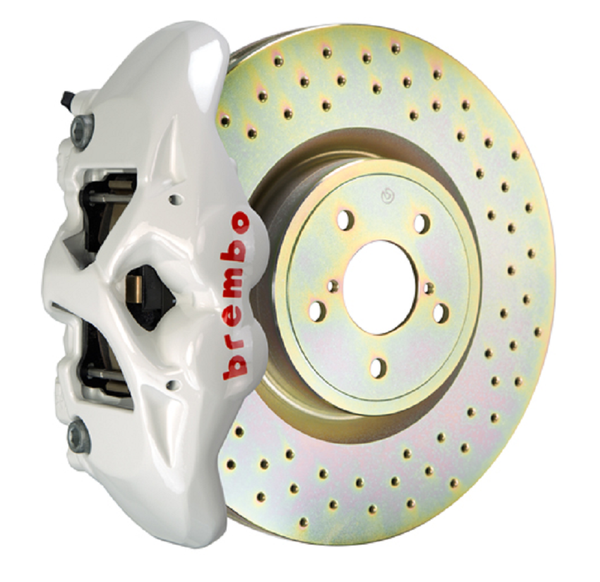 Brembo GT Systems Monobloc 4 Piston 326mm Cross Drilled (White) For 2013+ BRZ/FRS