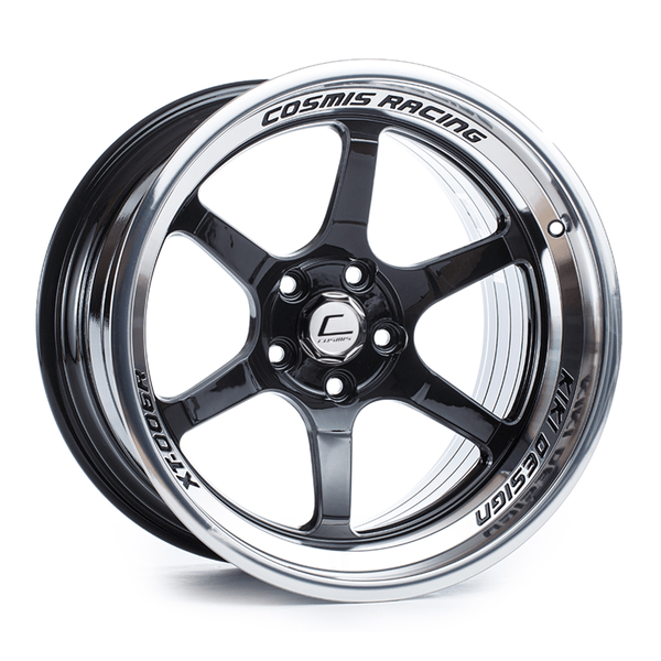 Cosmis Racing XT-006R Black with Machined Lip Wheel 18X11 5X114.3 +8MM Offset