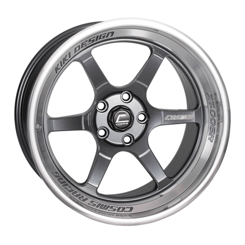 Cosmis Racing XT-006R Gun Metal with Machined Lip Wheel 18X11 5X114.3 +8MM Offset