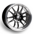 Cosmis Racing XT-206R Black with Machined Lip Wheel 17X8 5X114.3 +30MM Offset