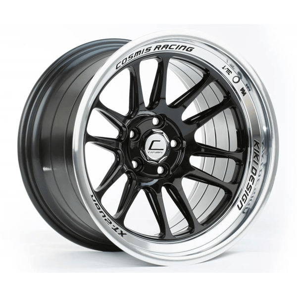 Cosmis Racing XT-206R Black with Machined Lip Wheel 17X9 5X114.3 +5MM Offset