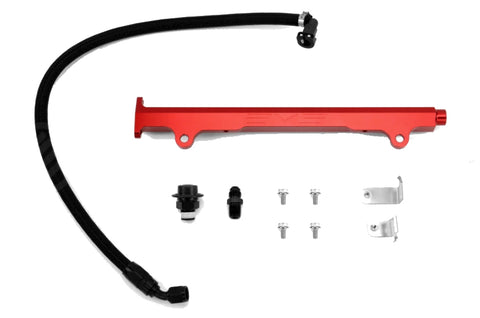 AMS Fuel Rail Kit For Mitsubishi Evolution X 4B11 (Red and Black)