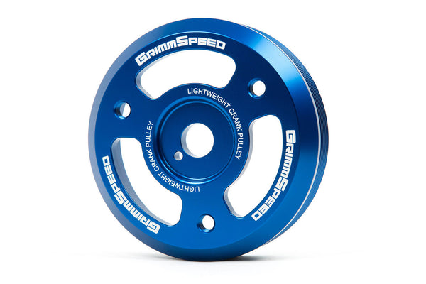 GrimmSpeed Blue Lightweight Crank Pulley For 2015+ WRX / 2013+ BRZ/FRS