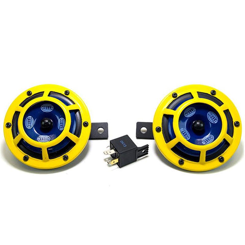Hella Sharptone Horn Kit- Yellow