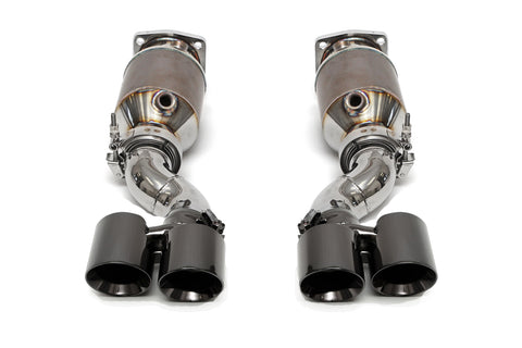 Fabspeed Porsche 997 Turbo Muffler Bypass Catted Exhaust System (Satin Black Tips)