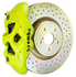 Brembo GT Systems Monobloc 4 Piston 326mm Cross Drilled (Fluorescent Yellow) For 2015+ WRX