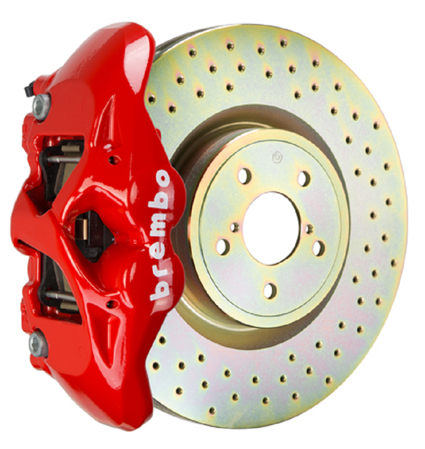 Brembo GT Systems Monobloc 4 Piston 326mm Cross Drilled (Red) For 2015+ WRX
