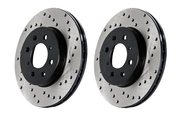 Stoptech Drilled Rotors Front (Pair) For 2005-2007 STI