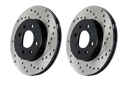Stoptech Drilled Front Rotors For 2004 STI 5x100 (Left and Right)
