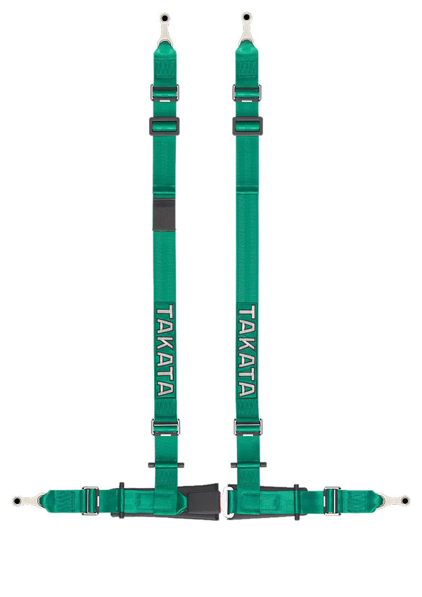 Takata Drift II 4-Point Harness Bolt-On (Black or Green)