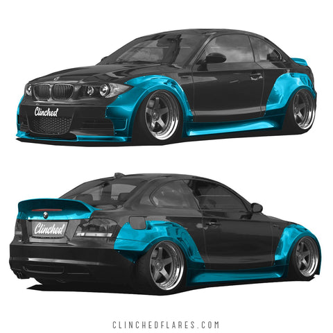 Clinched Flares Widebody for BMW E82 1 Series Coupe 2007-2012