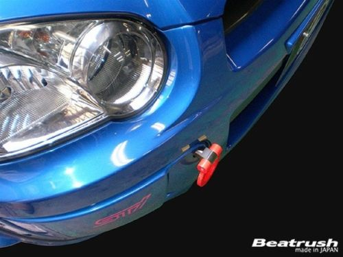 Beatrush Front Tow Hook (RED) For 2002-2007 Subaru WRX / STI