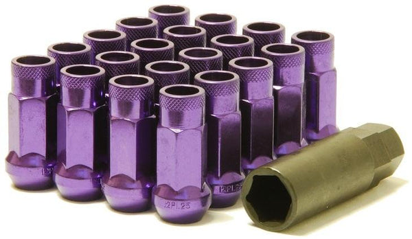 Muteki SR48 Open End Lug Nuts Purple 12x1.25