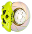 Brembo GT Systems Monobloc 4 Piston 326mm Slotted (Fluorescent Yellow) For 2015+ WRX