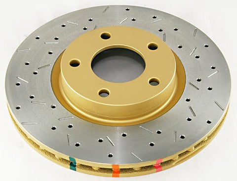 DBA 4000 Series Drilled / Slotted Rotors For STI Rear - Subaru STI 2004-2007