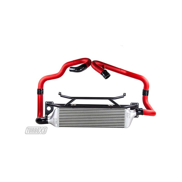 Turbo XS Front Mount Intercooler Kit for 2015+ STI w/ Red Piping