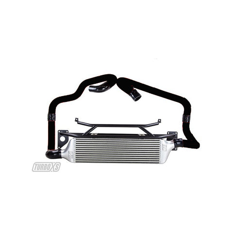 Turbo XS Front Mount Intercooler Kit for 2015+ STI with Black Piping