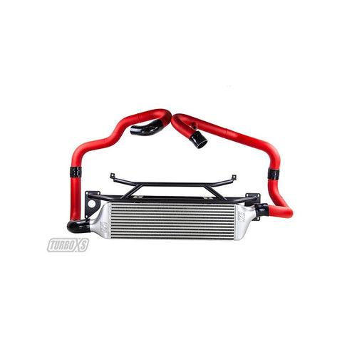 Turbo XS Front Mount Intercooler Kit for 2015+ STI with Red Piping