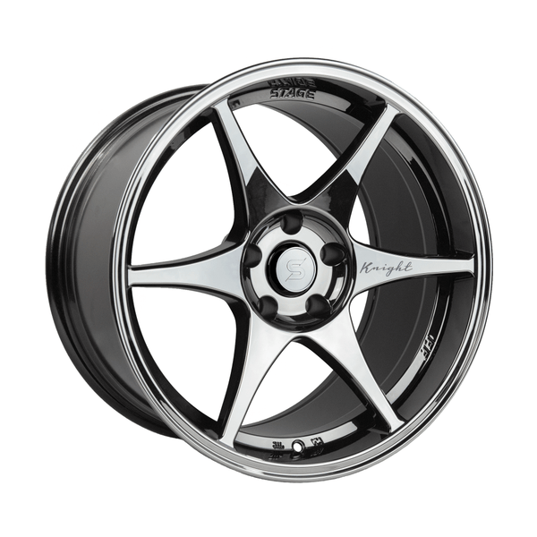 Stage Wheels Knight 17x9 +10mm 5x114.3 CB 73.1 Black Chrome