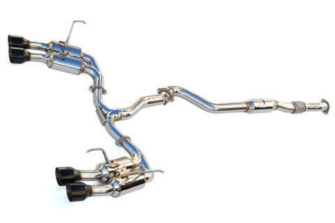 Invidia Gemini R400 Single Layer Quad Black Tip Catback Exhaust 2015+ WRX/STI