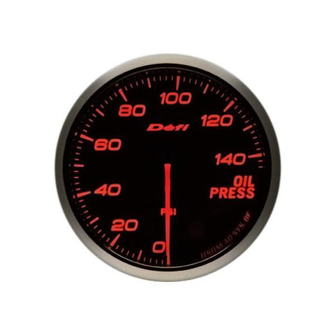 Defi Advance BF Amber Oil Pressure Imperial 60mm Gauge