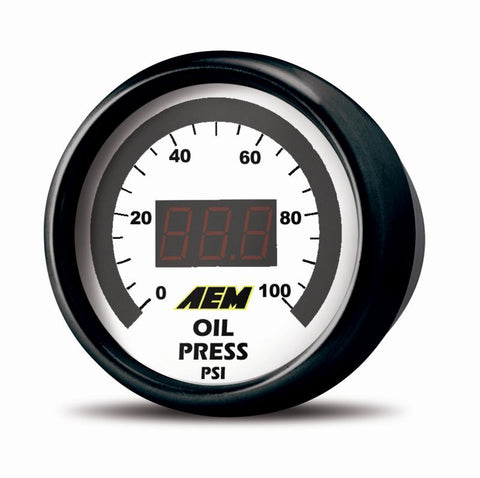 AEM Oil Pressure Gauge Digital 0-150psi 52mm