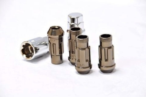 Muteki SR48 Open End Locking Lug Nuts Titanium 12x1.50