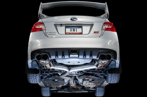 AWE Touring Edition Exhaust For 2011-2014 WRX Sedan / 2011+ STI Sedan (Chrome Silver Quad Tips)