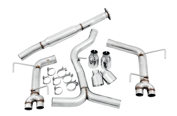 AWE Track Edition Exhaust for 2011-2014 WRX Sedan / 2011+ STI Sedan (Diamond Black Quad Tips)